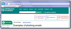 HMRC Security examples link